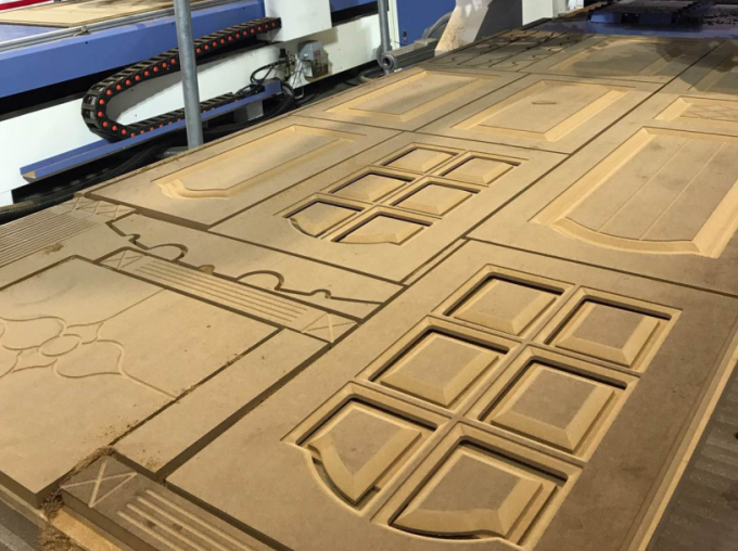 High Strength Wooden Door ATC CNC Router With Taiwan Syntec Control System