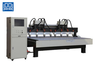 China Two Drive Eight Multi Head CNC Router Equipment For Wood Composite Door supplier