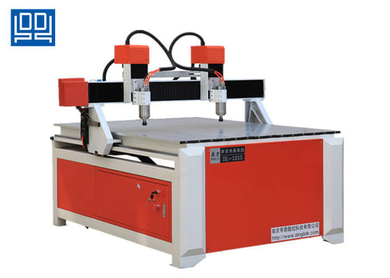 Double Spindle Head Advertising CNC Router Equipment With Square Guide Rail